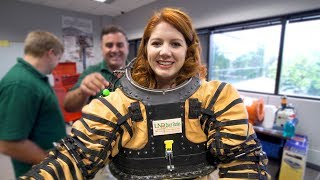 I wore a Mars space suit and it was exhausting