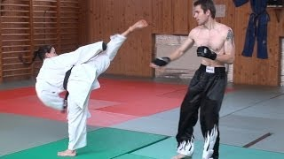 KARATE GIRL VS STREETFIGHTER (real fight)