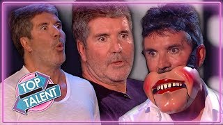 Simon Cowell UNDER PRESSURE on Stage on Britain