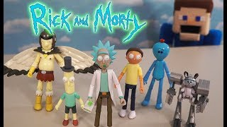 Rick and Morty Funko Action Figures Articulated Spooky Set Unboxing | Puppet Steve