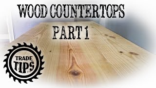 Building a Wood Countertop from 2x10