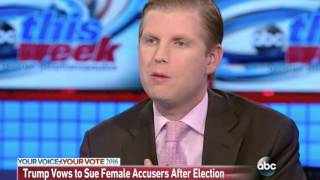George Stephanopoulos and Eric Trump Discuss Project Veritas Action Videos