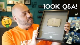 How To Make Money on YouTube Q&A - 100K Silver Play Button Unboxing!