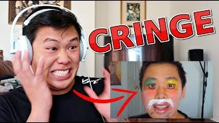 REACTING TO MY FIRST VIDEO!!! (TRY NOT TO CRINGE CHALLENGE)