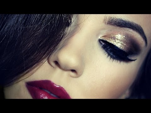 Birthday Makeup Tutorial   Gold Dramatic Makeup   TheMakeupChair