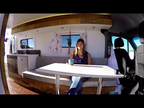 4x4 Sprinter Van Conversion - Full Camper Van Tour & Timelapse