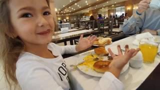 Porto bello hotel ilk sabah kahvaltı keyfi, otel turu, eğlenceli çocuk videosu