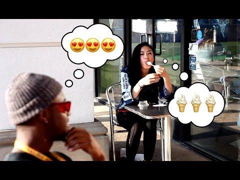 Blind Girl Eating Ice Cream Prank Los Angeles