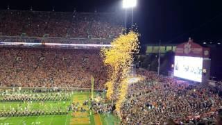 TigerNet.com - Clemson runs down the hill against South Carolina