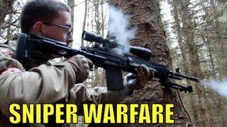 Airsoft War WE M14 EBR Sniper Action Section8 Scotland HD