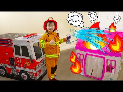 Jannie Pretend Play Rescue w Fire Engine Truck Ride On Toys