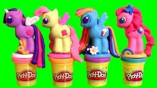 PLAY DOH My Little Pony Crie e Decore seus Pôneis TOYSBR   Play Doh Make