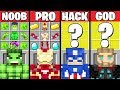 Minecraft Battle: AVENGERS SUPERHERO CRAFTING CHALLENGE - NOOB vs PRO vs HACKER vs GOD ~ Animation