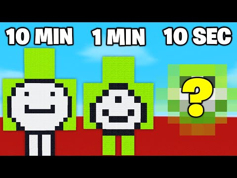 Building Youtubers In 10 Minutes 1 Minute & 10 Seconds Challenge