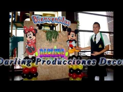 DECORACIÓN DE LA CASA DE MICKEY MOUSE DARLING PRODUCCIONES