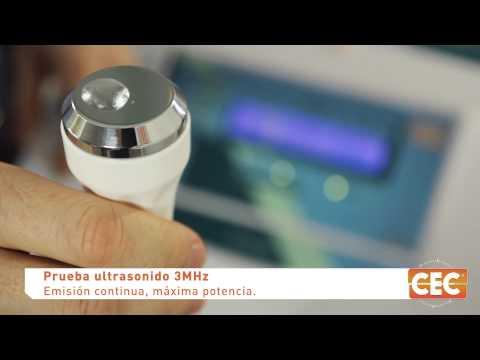Prueba de funcionamiento de Ultrasonidos 1 y 3 MHz y Ultracavitador 40kHz CEC