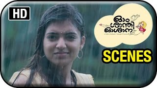 Om Shanti Oshana Movie Scenes HD | Nivin Pauly helps Nazriya in the rain | Renji Panicker