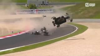 F3 Euro - Acidente Pedro Piquet em câmera lenta