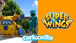 Super Wings | Runaway Dinosaur | Cartoonito