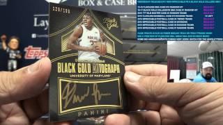 2016-17 Panini Black Gold Collegiate Basketball 8 Box Case Break #1