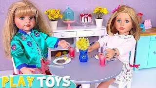 Gotz Baby Doll Bathroom Routine, Dress up and Cooking Toys Play!