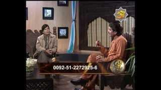 Anchor Afzal Ajiz & Singer Naji Khan In Program Jhok Sanjhok On Rohi Tv