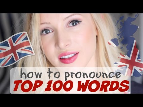 watch Pronounce the 100 Most Common English Words PERFECTLY | British English Pronunciation