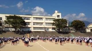 Morning Exercise in Japanese Elementary School