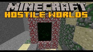 HOSTILE WORLDS - Nueva dimension, Zombies invader y Boss - Minecraft 1.6.4  y 1.7.10 Review ESPAÑOL