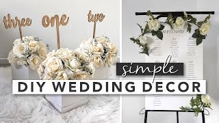 Simple DIY Wedding Decor | Centerpieces, Signs, Party Favours