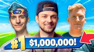 so I'm playing Fortnite for $1 MILLION... AGAINST PROS!