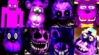 15 PURPLE ANIMATRONIC JUMPSCARES! | FNAF & Fan Games | IULITM