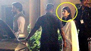 Emotional Aishwarya Rai & Abhishekh At Lilavati hospital Where Aishwarya's Father Is Admitted