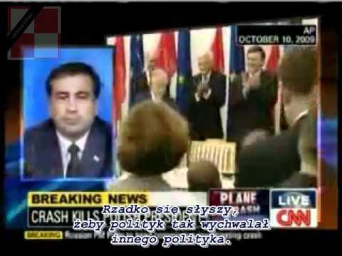 Prezydent Gruzji Micheil Saakaszwili o katastrofie smoleńskiej i Lechu Kaczyńskim
