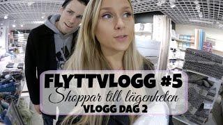 Flyttvlogg #5    Shoppar massa nytt till lägenheten! ♡ Vlogg dag 2