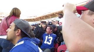 NY Giants vs 49ers 11/12/2017 fans arrested & tasered