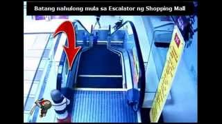 Batang nahulog sa Escalator ng Shopping Mall sa Cebu.