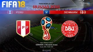 FIFA 18 World Cup - Peru vs. Denmark @ Mordovia Arena (Group C)