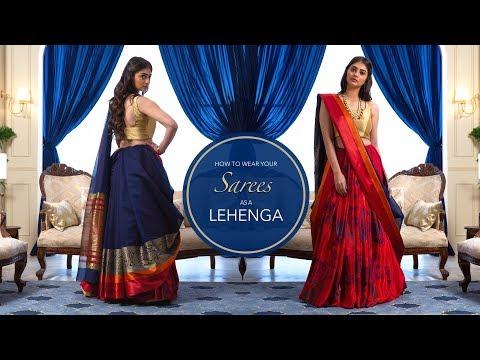 Xxx Mp4 How To Wear A Saree As A Lehenga Saree Hacks 3gp Sex