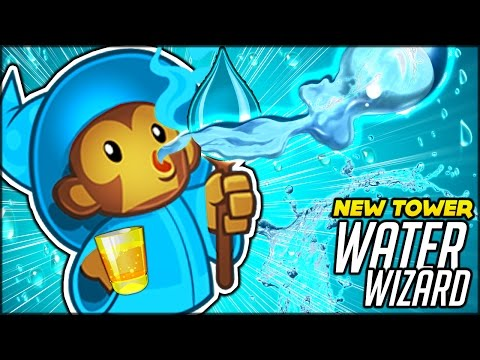 NEW OP TOWER THE X 4 WATER WIZARD CAN WE SURVIVE 100 BTD Battles Bloons TD Battles Hack Mod