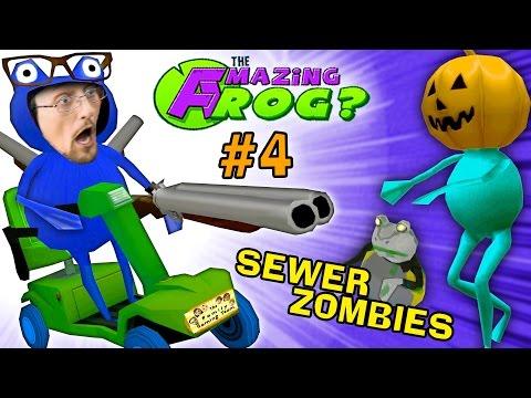 SEWER ZOMBIES vs. SHOTGUN BLAST AMAZING FROG HALLOWEEN Part 4 FGTEEV Pumpkin Head Costume
