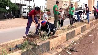 كاميرا نبأ ترصد حملة التشجير في الطرقات والساحات العامة في مدينة داعل شمال درعا