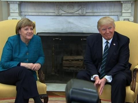 Trump and Merkel Meet in the Oval Office