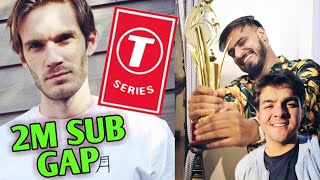 T-Series 2 Million Sub Gap Over PewDiePie   Ashish Chanchlani, Amit Bhadana   PewDiePie Vs T-Series