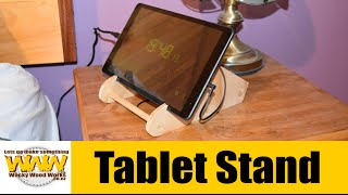 I make this Tablet Stand - Off the Cuff - Wacky Wood Works.
