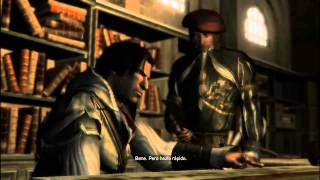 Ezio Y Leonardo Davinci arreglando su hoja oculta Assassin Creed II