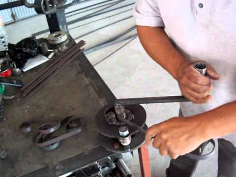 CREAMEX JRJ dobladora manual de caracoles de solera.