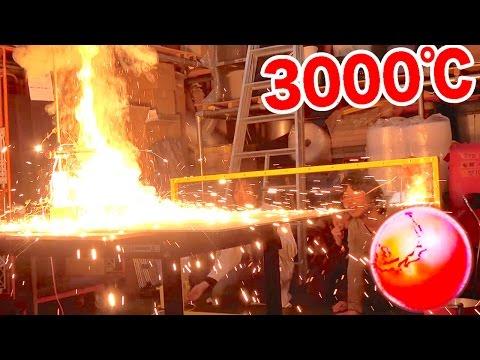 3000℃に熱した鉄球を氷の上に置いてみた!