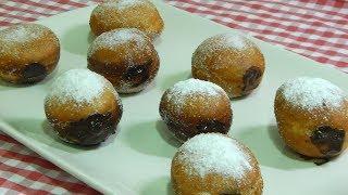 Receta fácil de berlinas caseras rellenas de crema de chocolate (bombas de chocolate)