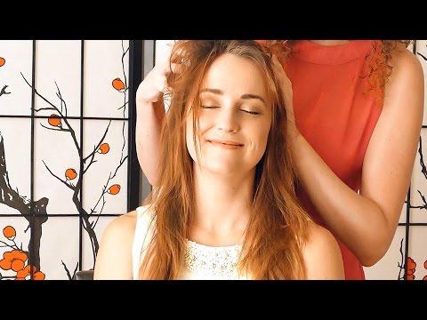 Beautiful ASMR Massage Scalp & Hair Brushing Binaural Ear to Ear Whisper Relaxation Sleep